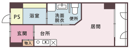 サライ萱町_間取り図_B